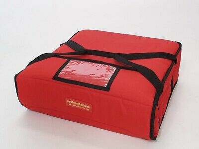 """Pizza Delivery Bag Thick Insulated(Holds upto Three16"""" or Two 18"""" Pizzas) Red."""