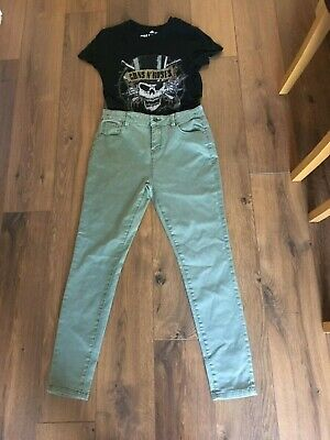 Girls Marks And Spencer,S Khaki Skinny Jeans Age 11/12 Years Fab