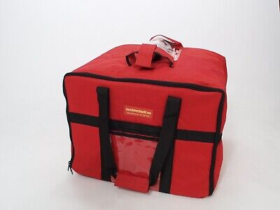STAIN / WATER RESISTANT Insulated Food Delivery Bag/ CATERING BAG.RED.