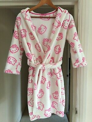 White & Pink Hello Kitty Dressing Gown - 9 to 10 years old - Marks and Spencer