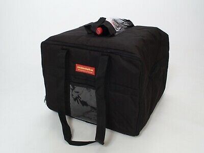 STAIN / WATER RESISTANT Insulated Food Delivery Bag/ CATERING BAG.Black.