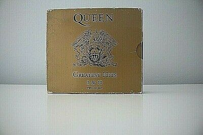 Queen Greatest Hits 1 & 2 CD Fatbox 1994 Freddie Mercury Brin May - VGC