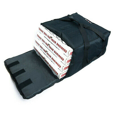 "Pizza Delivery Bags Insulated(Holds up to Three 16"" or Four 18"" Pizzas) Black."