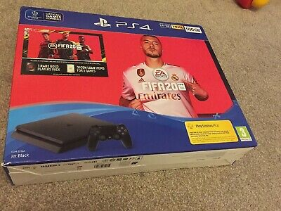 SONY PlayStation 4 (PS4) with FIFA 20 - 500 GB. External Box Slightly Damaged.