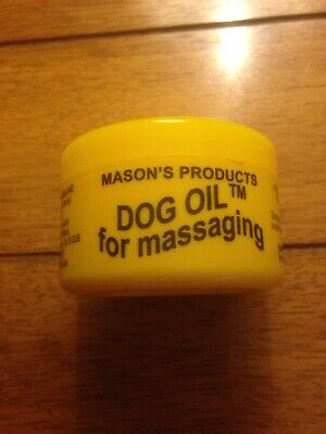 Masons Products 100G Dog Oil For Massaging