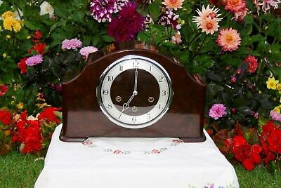 Smiths Antique Art Deco Bakelite Westminster Chiming Mantel Clock, 1952.