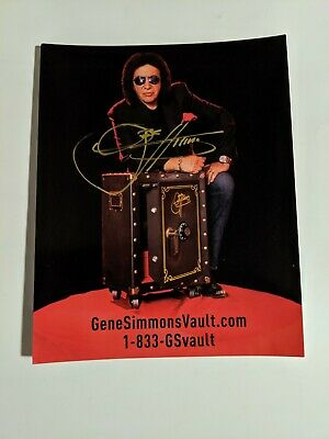 Gene Simmons Paul Stanley lot of 2 signed autographed items KISS