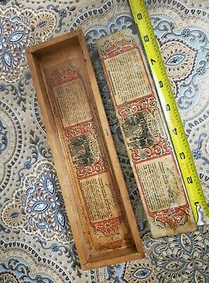 VINTAGE  LABELED ESCHER RAZOR HONE  NATURAL WATER STONE in wooden box