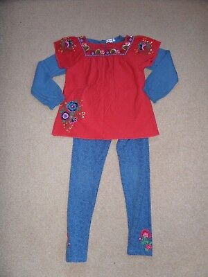 BEAUTIFUL Girls 3 Piece MARKS & SPENCER Autograph Outfit Age 5-6 Perfect for NOW