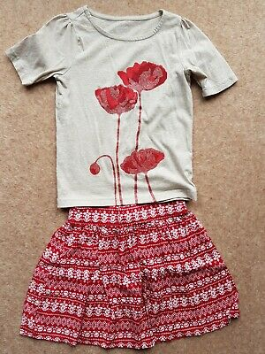 BNWT Crazy 8 (GYMBOREE) Soft Jersey Skirt & T Shirt outfit Age 5-6 years