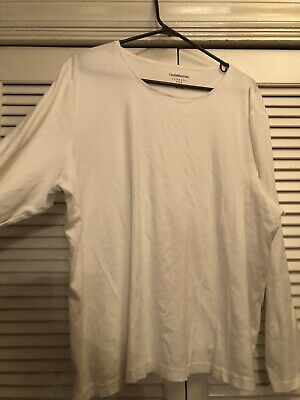 Women's Plus Size Croft&Barrow Long Sleeved Classic Tee, White, Size 3X