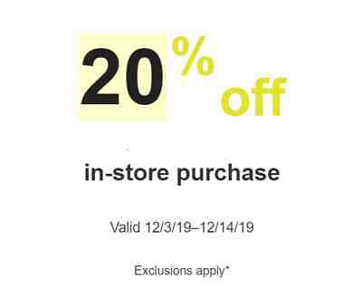 Target 20% Off Storewide purchase In-Store - Read