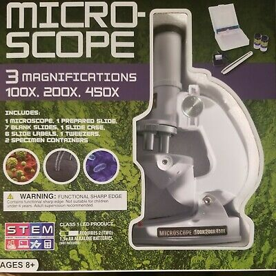 Childrens Microscope Beginners Science Educational Toys Christmas Gift