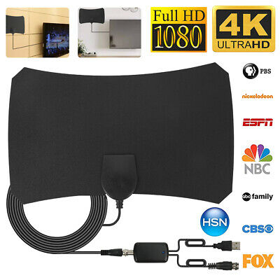 960 Mile Indoor Digital TV Antenna Aerial Signal Amplified 4K HDTV HD Freeview