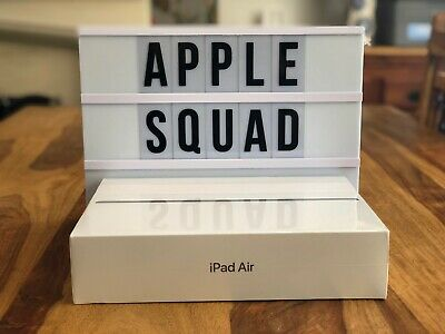 "Uk 2019 New Sealed Apple Ipad Air 10.5"" 256Gb Wifi Space Grey Muuq2B/A Rrp:£629"