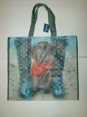 Yorkshire Terrier Puppy Image Reusable Shopping Bag 38 x 42cm Dog Lover