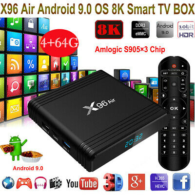 2019 December Version X96 AIR HD WIFI 4K Quad Core Android Smart TV Box 4GB+64GB