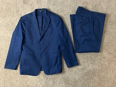Banana Republic Modern Slim-Fit Suit Jacket And Pants Sz 40s 32x30 Cotton