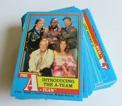The A-Team Complete Trading Card Set - 66 Cards (1983)