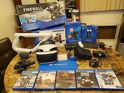 Sony PlayStation VR Bundle with Games And TONS OF ACCESSORIES! (PS4 PSVR)