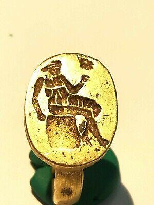 Ancient Greek Archaic gold Rings seal