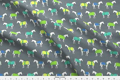 Equestrian Horse Pony Fabric Printed By Spoonflower BTY