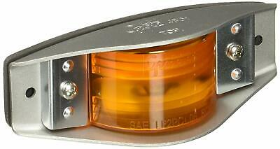 (1) Armored AMBER Marker Light ~ Grote  45013