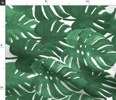 Monstera Palm Tropical Print Decor Interior Fabric Printed by Spoonflower BTY