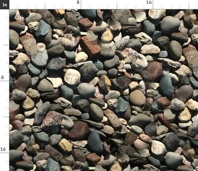 Pebbles Stones Rocks Minerals Fabric Printed by Spoonflower BTY