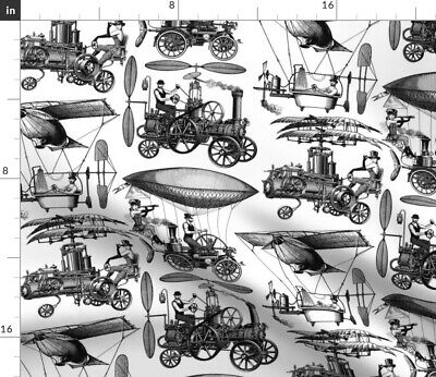 Steampunk Fabric Printed by Spoonflower BTY