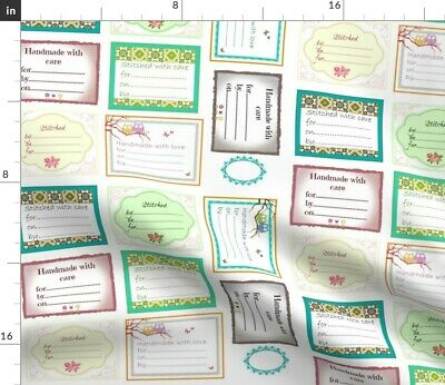 Labels Fabric Printed by Spoonflower BTY