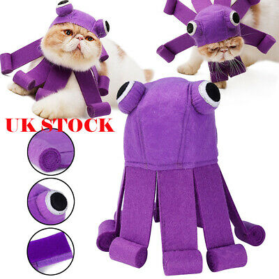 Halloween Christmas Pet Cat Dog Funny Octopus Hat Cap Puppy Xmas Party Outfit UK