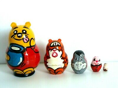 New Hand Painted Russian Nesting Doll Disney Thomas The Train 5 Pс Made In Russ