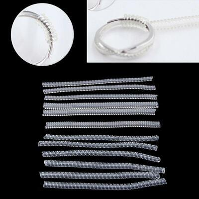 12 Pack 4 Sizes Ring Size Adjuster Spiral Tightener For Loose Ring Jewelry Guard