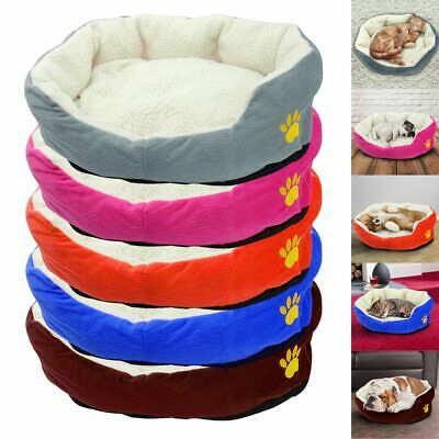 Deluxe Warm Soft Washable Dog Cat Pet Warm Basket Bed Cushion with Fleece Lining