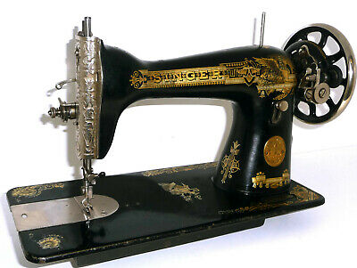 Antique Singer 15K sewing machine treadle sphinx no hand crank