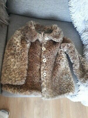 Girls Next Faux Fur Teddy Style Coat Mink Age 6 Years