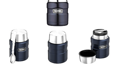 Thermos King Food Jar Stopper With Folding Nesting Spoon BNIP Sealed ONLY
