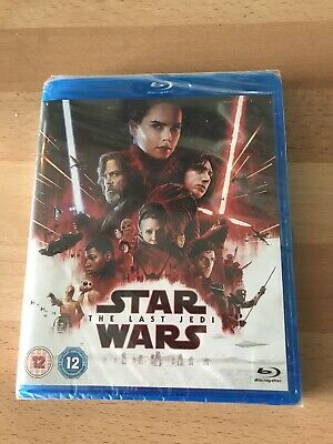 Star Wars The Last Jedi Blu Ray DVD - Brand New Sealed In Packet