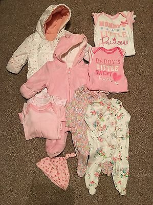 Baby Girl Bundle Inc 2 x Winter snowsuit / Pramsuit 0-6, Next, George