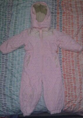 Girls Next Pink Snowsuit Winter All In One 2-3 Years