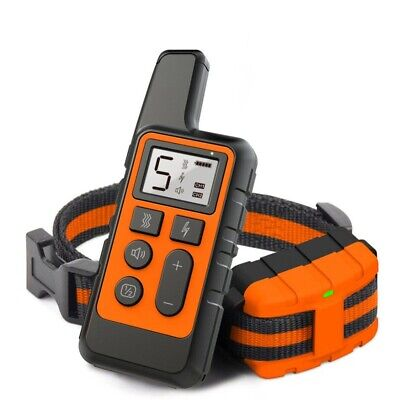 Dog Shock Training Collar Rechargeable 875 Yards Remote Control Waterproof IP67