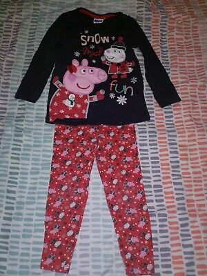 Girls Peppa Pig Christmas Outfit 2-3 Years