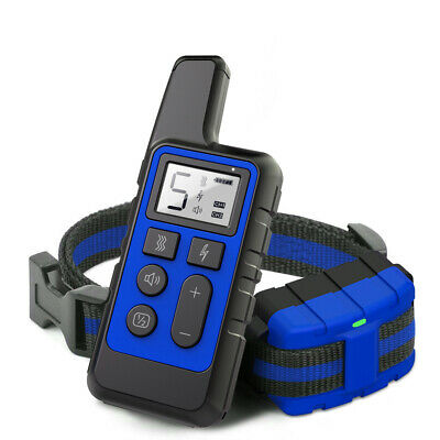 Electric Dog Shock Collar 875 Yards Remote Waterproof Rechargeable Pet Training