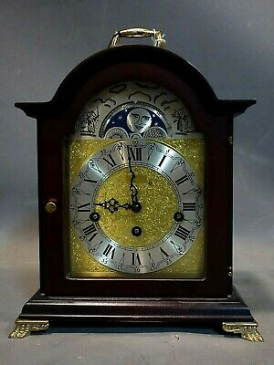 Dutch St.James Westminster Franz Hermle 8 day table/bracket clock Moonphase VGC