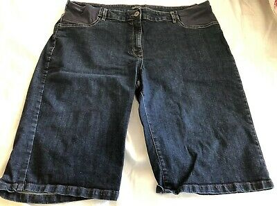 Next Denim Maternity Shorts Size 20 UK Hardly Worn