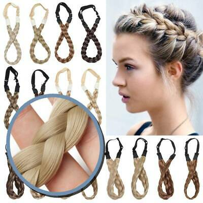 UK Dutch Twist Braids Crown Braid Real Thick Natural Hairband Hair Extensions