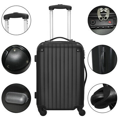 Set of 3 Piece Travel Luggage Wheel Trolleys Suitcase Bag Hard Shell w/TSA Lock