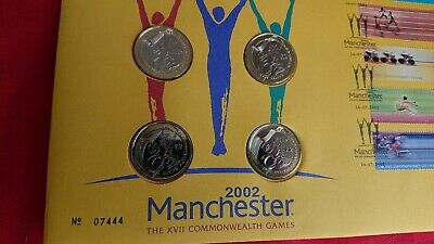G.B. 2002 Commonwealth Games on 4 x £2 Royal Mint PNC First Day Cover Manchester