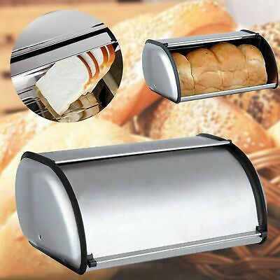 Stainless Steel Bread Box Home Kitchen Hotels Durable Snacks Storage Boxes